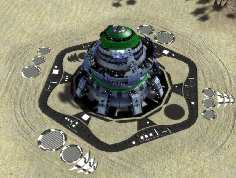 The T3 Mass Fabricator, Aeon Tech 3 Economy Building in Supreme Commander.