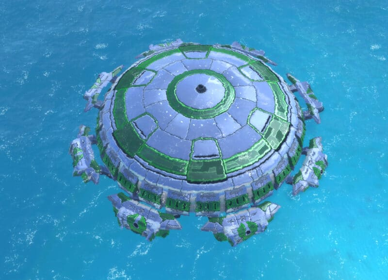The Tempest Submersible Battleship (Submerged), Aeon Experimental Unit in Supreme Commander.