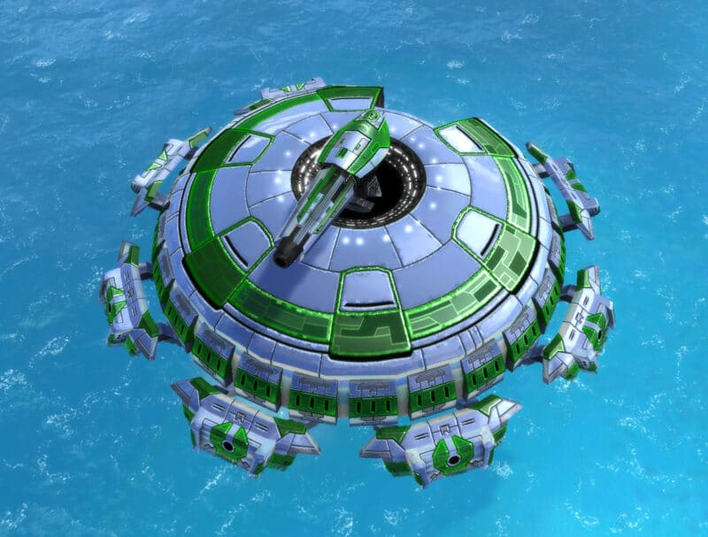 The Tempest Submersible Battleship, Aeon Experimental Unit in Supreme Commander.