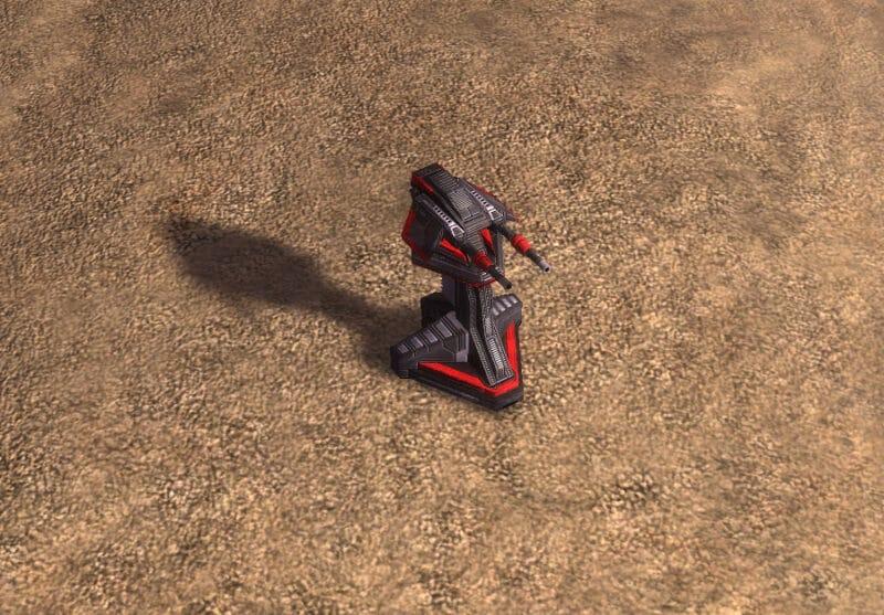 The Tracer Anti-Air Turret, Cybran Tech 1 Defensive Building in Supreme Commander.