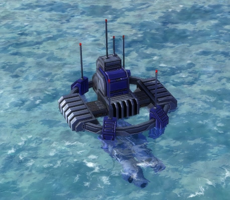 The Tsunami Heavy Torpedo Launcher, UEF Tech 2 defense building in Supreme Commander.