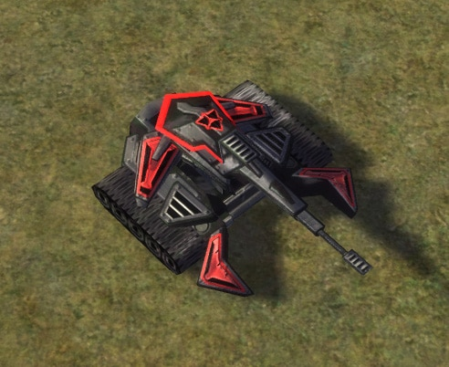 The Trebuchet Mobile Heavy Artillery, Cybran Tech 3 Land Unit in Supreme Commander.