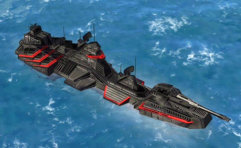 The Trident Class Frigate, Cybran Tech 1 Navy Unit in Supreme Commander.