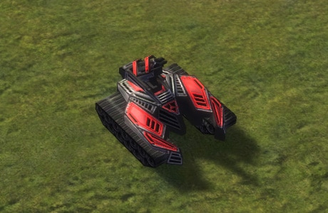 The Viper Mobile Missile Launcher, Cybran Tech 2 Land Unit in Supreme Commander.