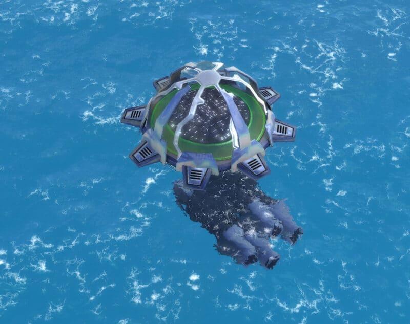 The Wave Break T2 Torpedo Launcher, Aeon Tech 2 Defensive Building in Supreme Commander.
