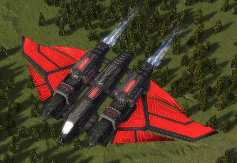 The Zeus Attack Bomber, Cybran Tech 1 Air Unit in Supreme Commander.
